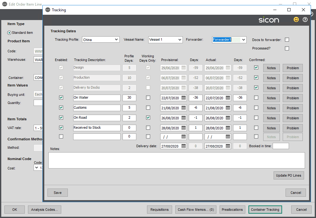 Sicon Distribution Help and User Guide - Image 1.7.9