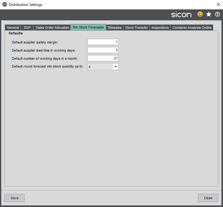 Sicon Distribution Help and User Guide - Image 10.1.4