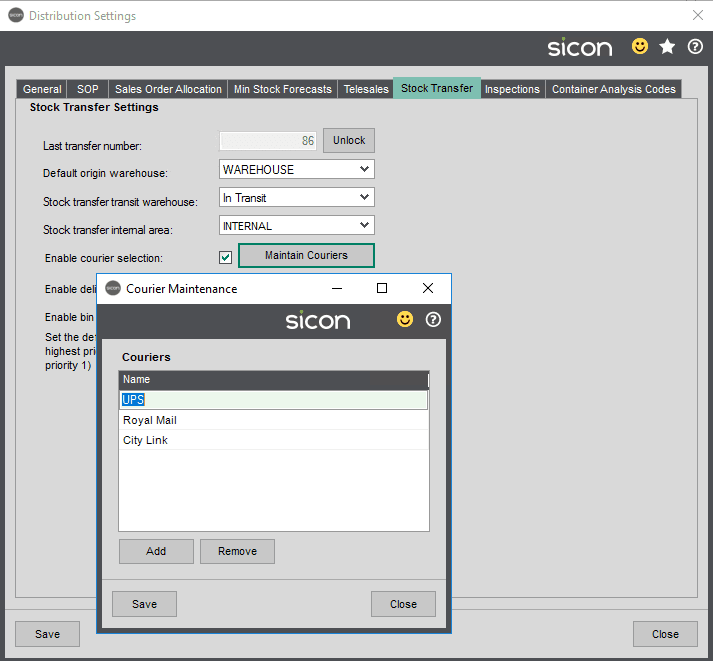 Sicon Distribution Help and User Guide - Image 10.1.7