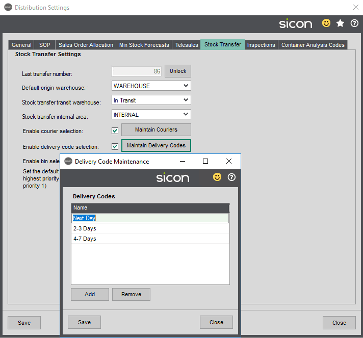 Sicon Distribution Help and User Guide - Image 10.1.8