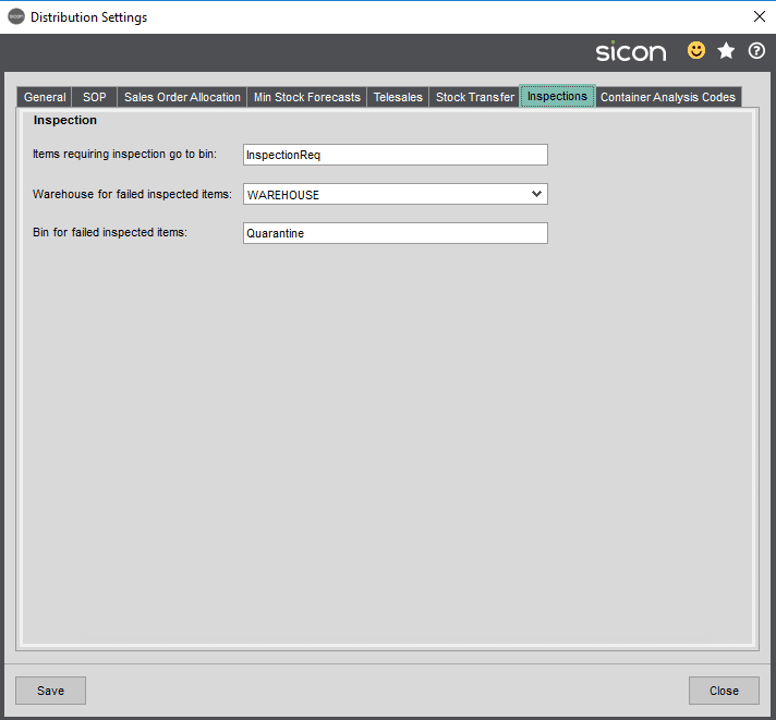 Sicon Distribution Help and User Guide - Image 10.1.9