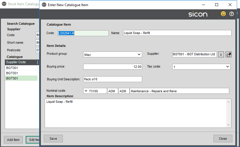 Sicon Distribution Help and User Guide - Image 2.1.2