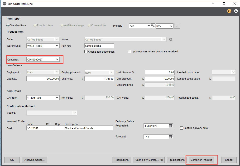 Sicon Distribution Help and User Guide - Image 4.1.3
