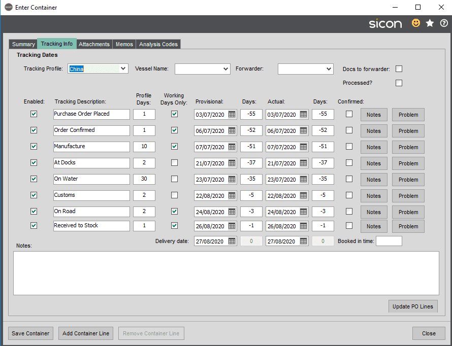 Sicon Distribution Help and User Guide - Image 4.1.6