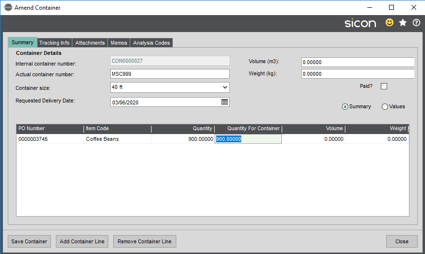 Sicon Distribution Help and User Guide - Image 4.1.9