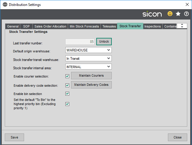 Sicon Distribution Help and User Guide - Image 5.9.4