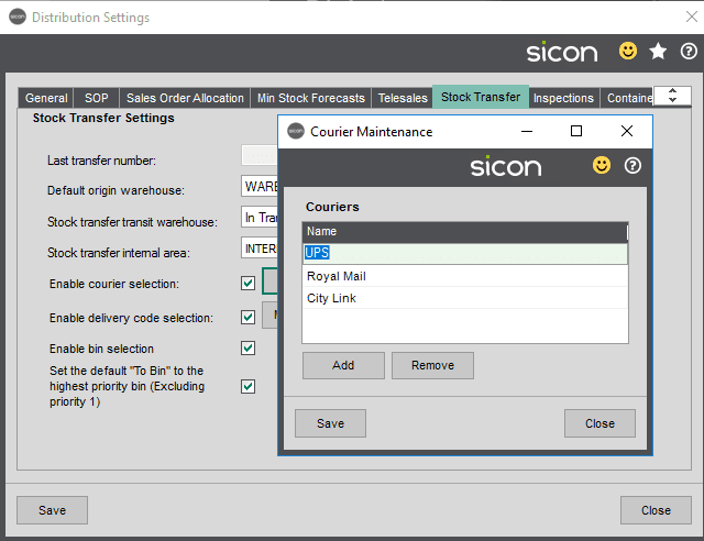 Sicon Distribution Help and User Guide - Image 5.9.5