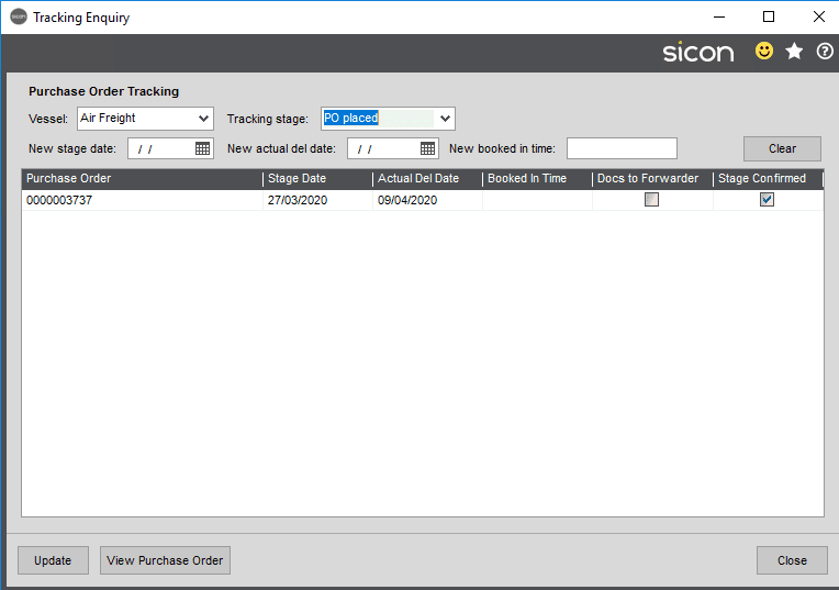 Sicon Distribution Help and User Guide - Image 8.5.1