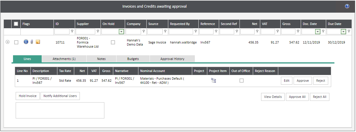 Sicon WAP Invoice Module Help and User Guide - Invoice Image 10 - Section 4.1