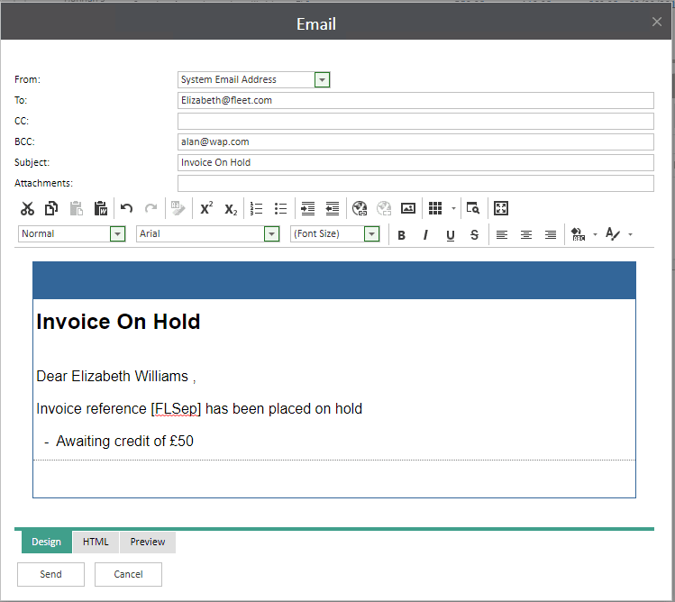 Sicon WAP Invoice Help and User Guide - Invoice Image 18 - Section 4.3