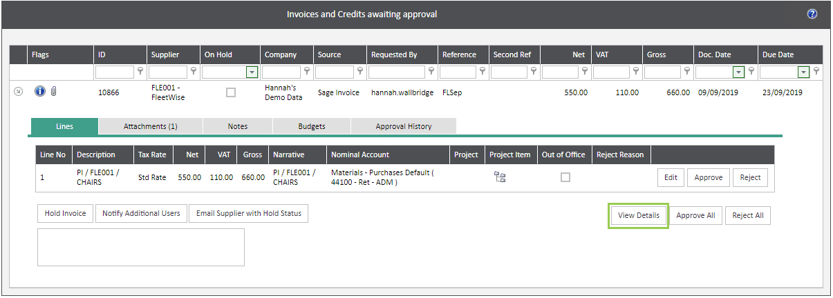 Sicon WAP Invoice Module Help and User Guide - Invoice Image 24 - Section 6
