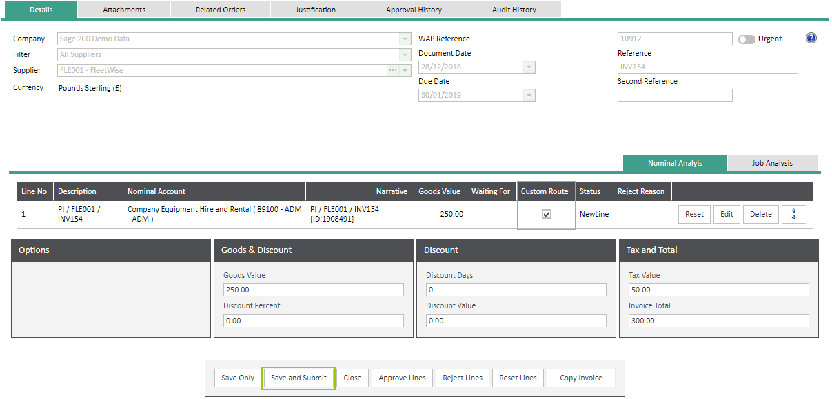 Sicon WAP Invoice Module Help and User Guide - Invoice Image 37 - Section 6.4
