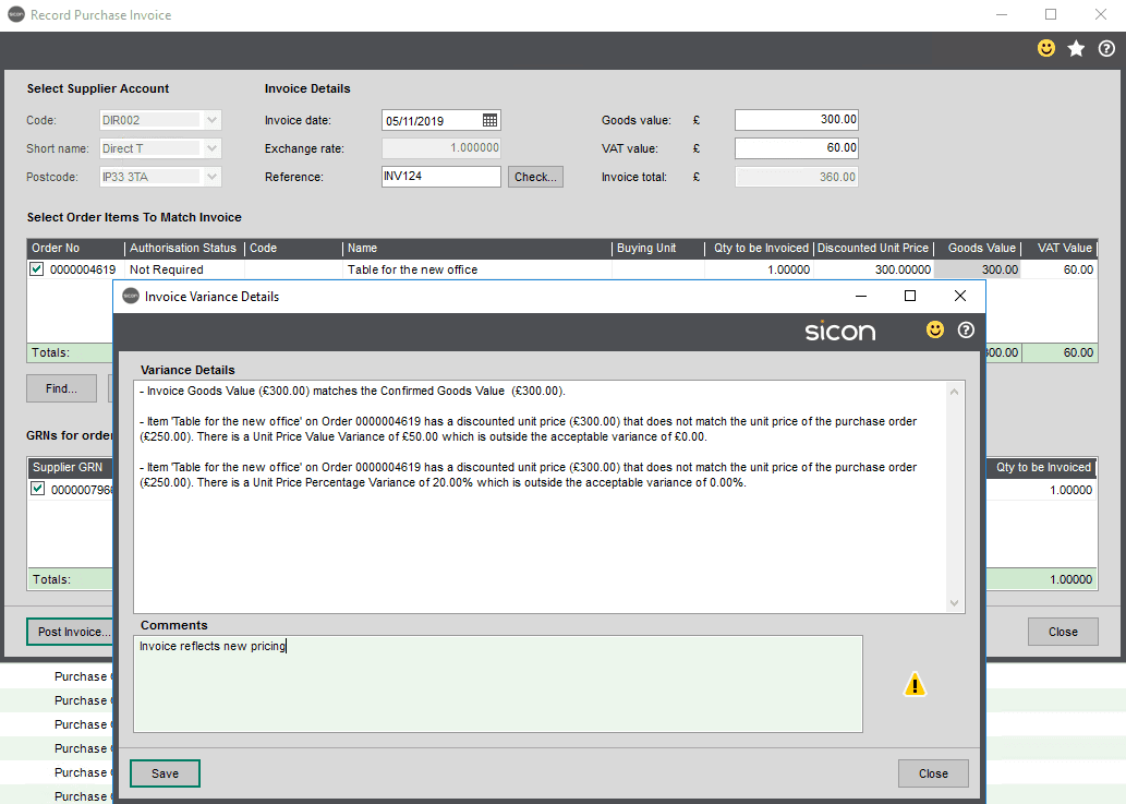 Sicon WAP Invoice Module Help and User Guide - Invoice Image 55 - Section 9