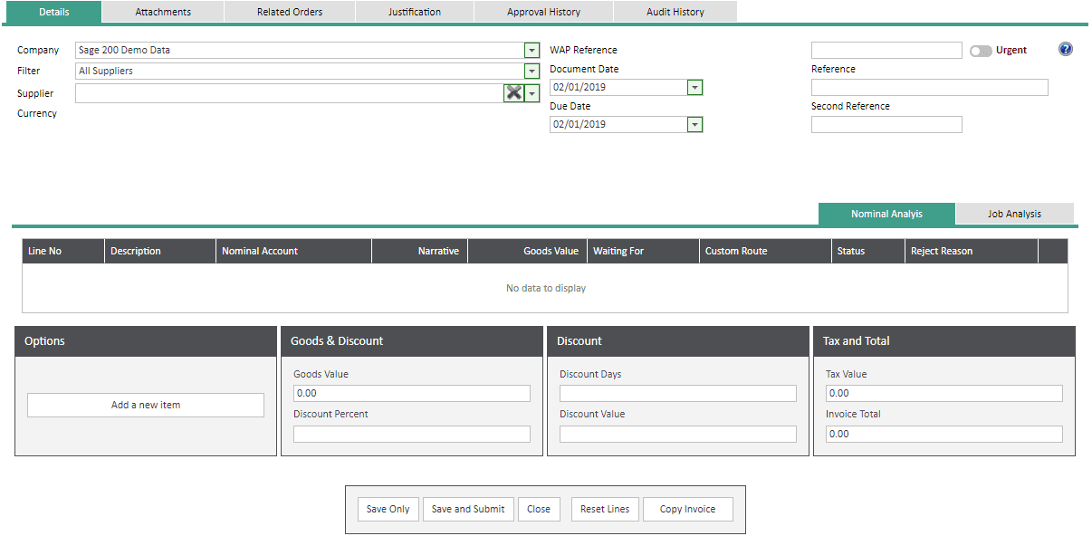 Sicon WAP Invoice Module Help and User Guide - Invoice Image 57 - Section 10