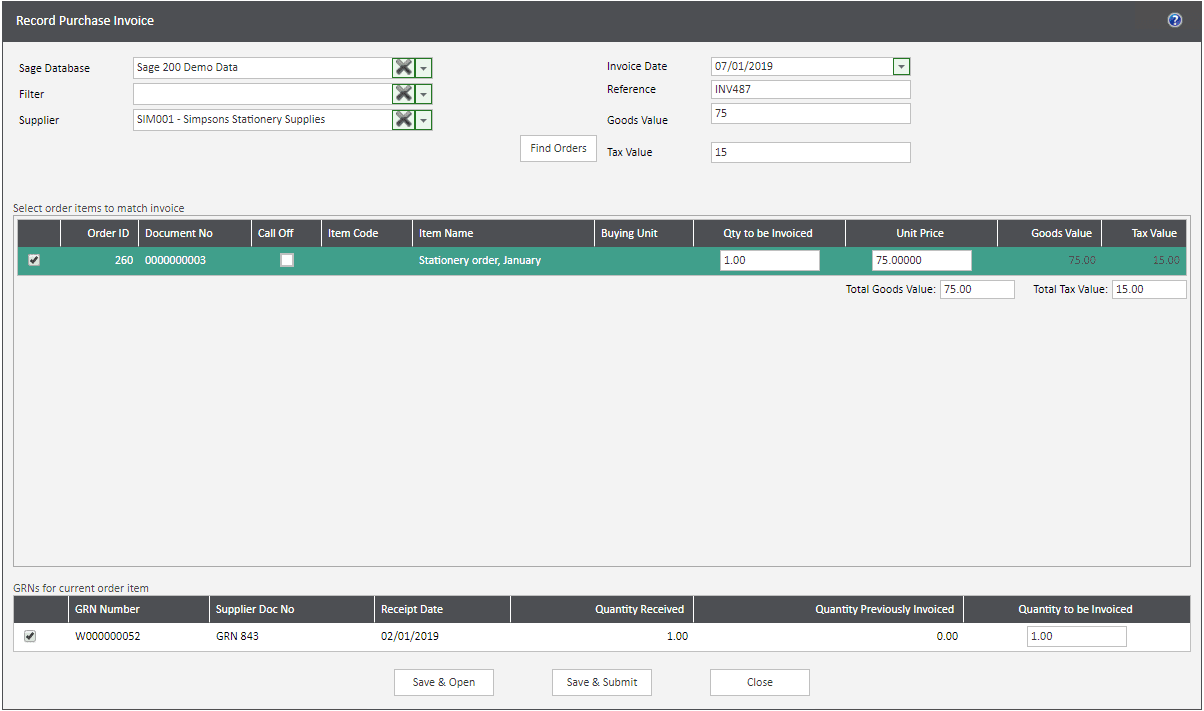 Sicon WAP Invoice Module Help and User Guide - Invoice Image 72 - Section 13