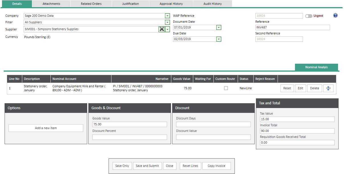Sicon WAP Invoice Module Help and User Guide - Invoice Image 73 - Section 13