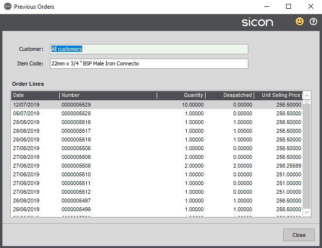 Sicon Distribution Help and User Guide - Pic11