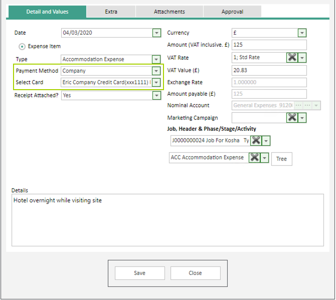 Sicon WAP Expenses Help and User Guide - Expenses HUG Section 11.1 Image 1