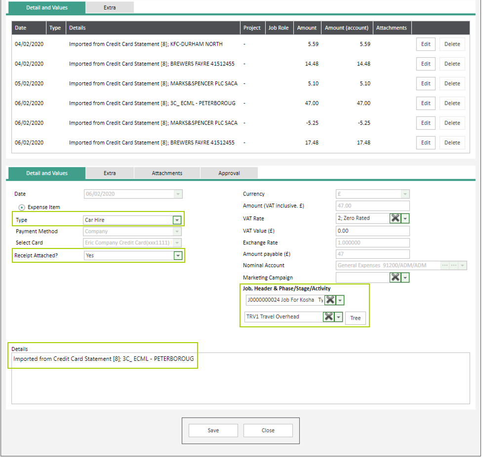 Sicon WAP Expenses Help and User Guide - Expenses HUG Section 12.5 Image 3