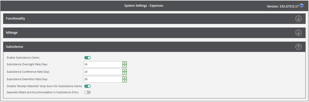 Sicon WAP Expenses Help and User Guide - Expenses HUG Section 13.1 Image 1
