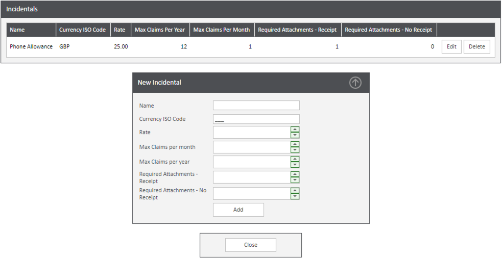 Sicon WAP Expenses Help and User Guide - Expenses HUG Section 14.1 Image 1