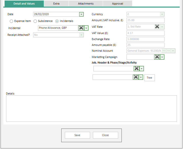 Sicon WAP Expenses Help and User Guide -Expenses HUG Section 14.3 Image 1