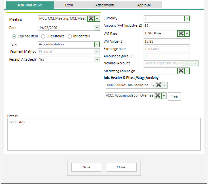 Sicon WAP Expenses Help and User Guide - Expenses HUG Section 15.5 Image 1