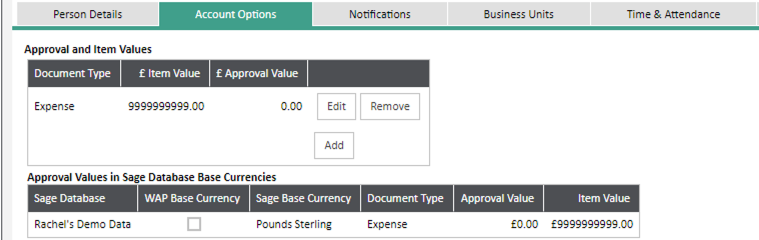 Sicon WAP Expenses Help and User Guide - Expenses HUG Section 22.1 Image 1