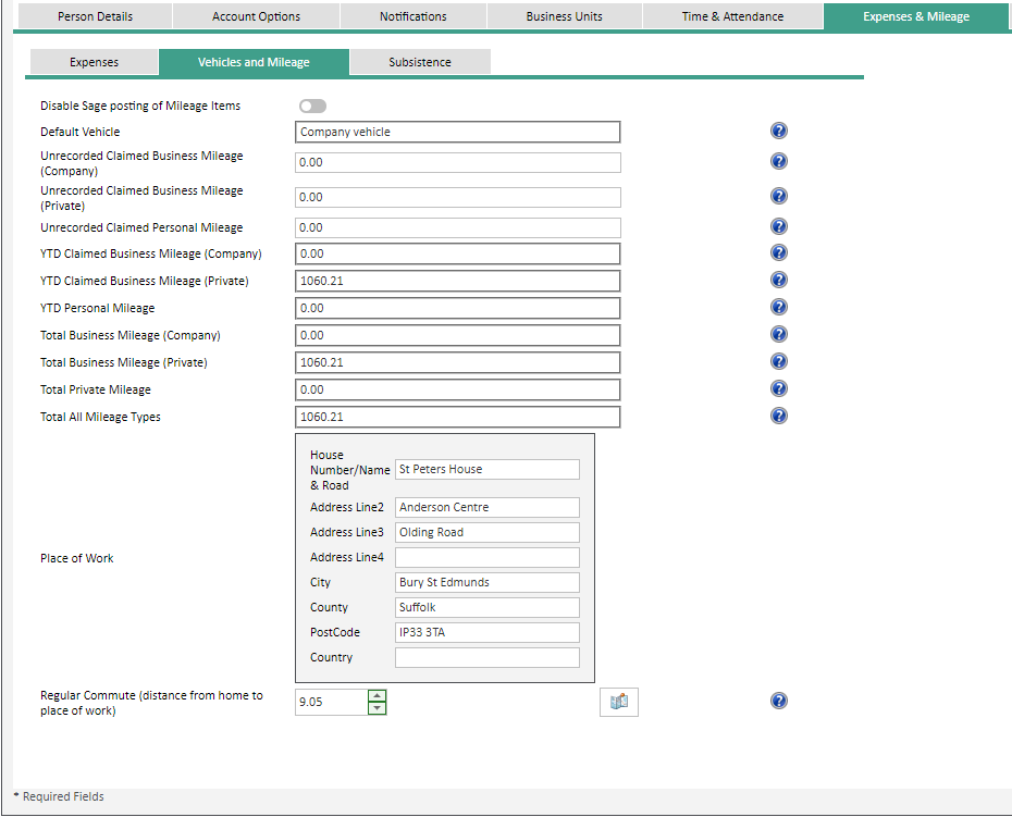 Sicon WAP Expenses Help and User Guide - Expenses HUG Section 4.4 Image 1