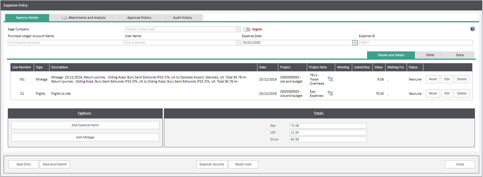 Sicon WAP Expenses Help and User Guide - Expenses HUG Section 6.2 Image 8