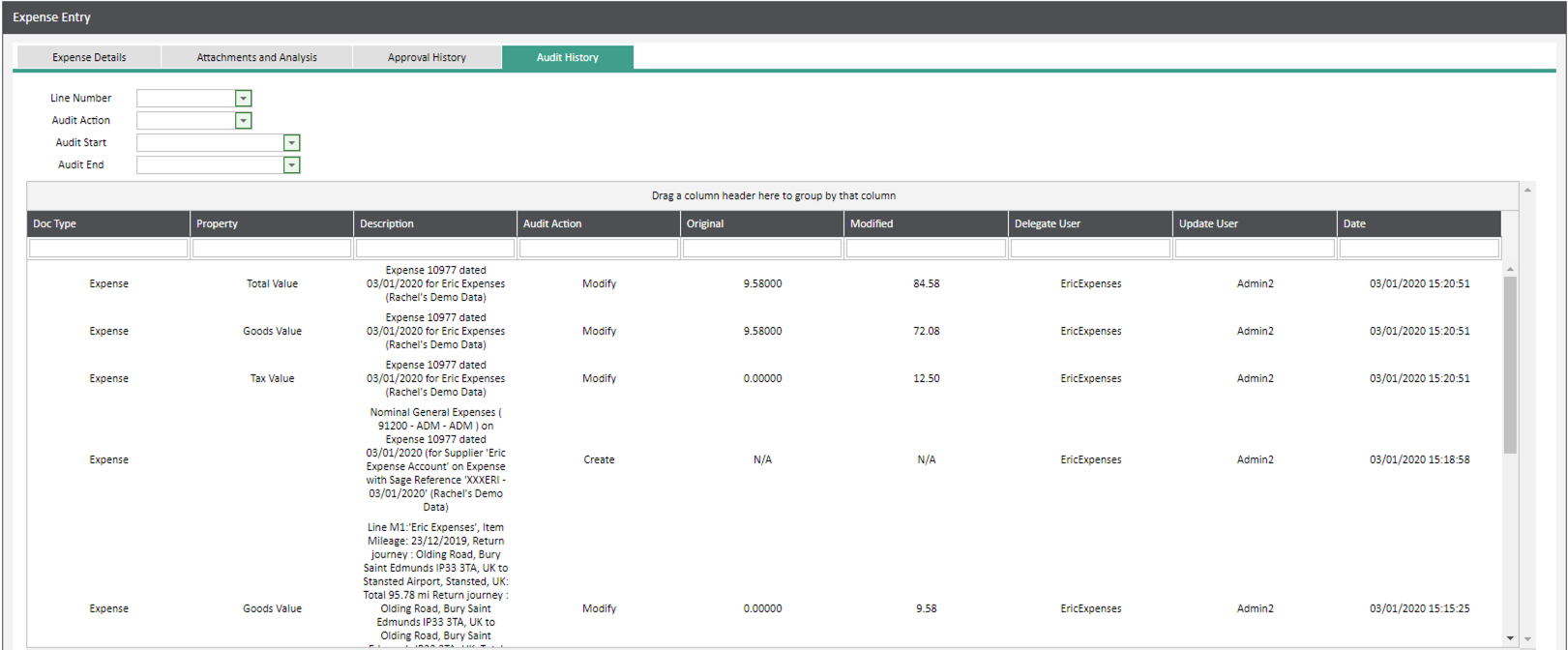 Sicon WAP Expenses Help and User Guide -Expenses HUG Section 6.3 Image 5