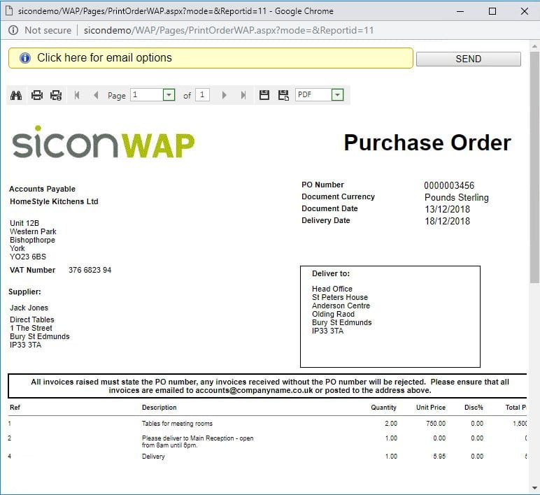Sicon WAP Requisitions Help and User Guide - Requisition Image 48 - Section 6