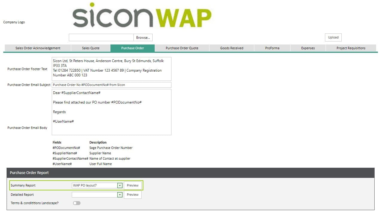 Sicon WAP Requisitions Help and User Guide - Requisition Image 52 - Section 6.1