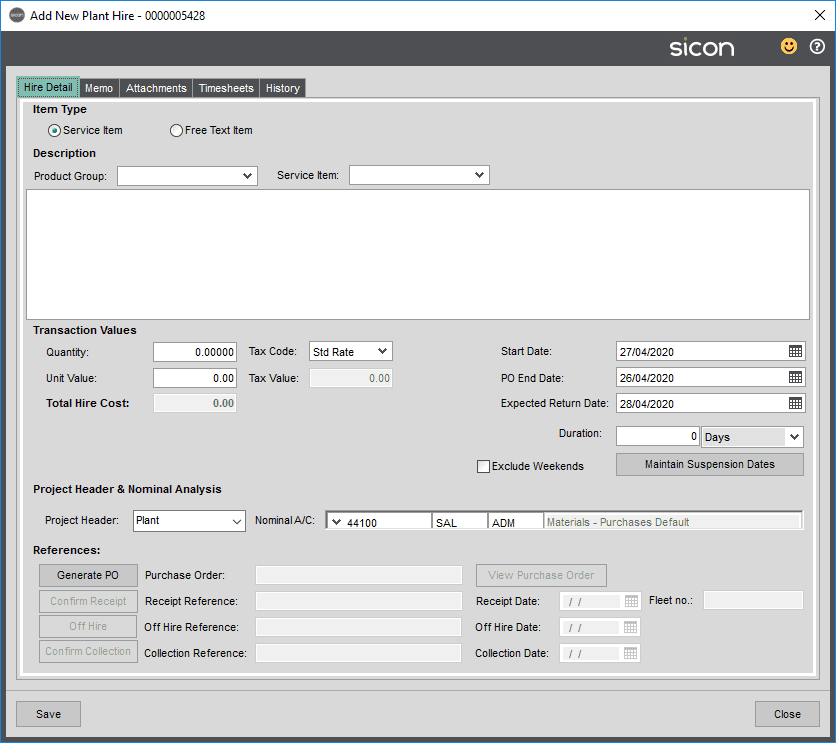 Sicon Projects Help and User Guide - SS10.2.3-4
