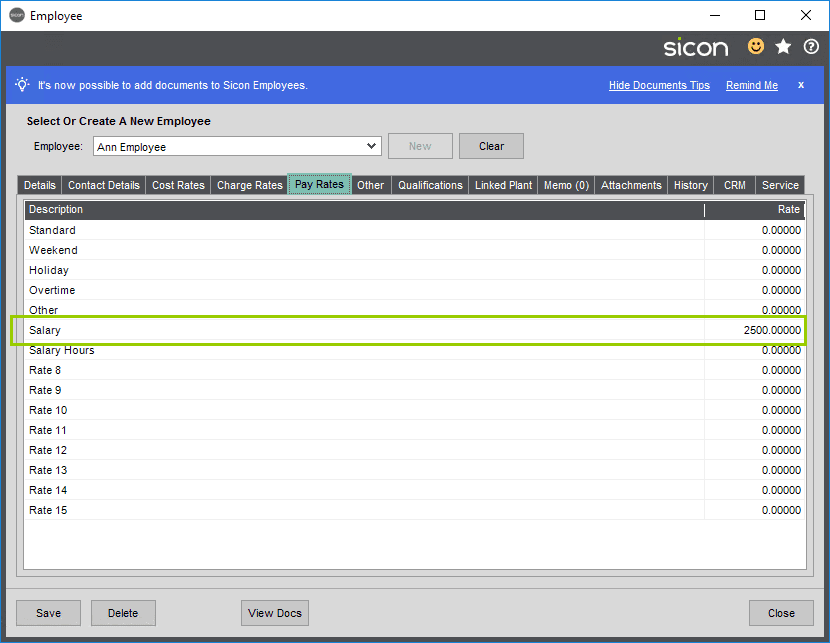 Sicon Projects Help and User Guide - SS12.2-2