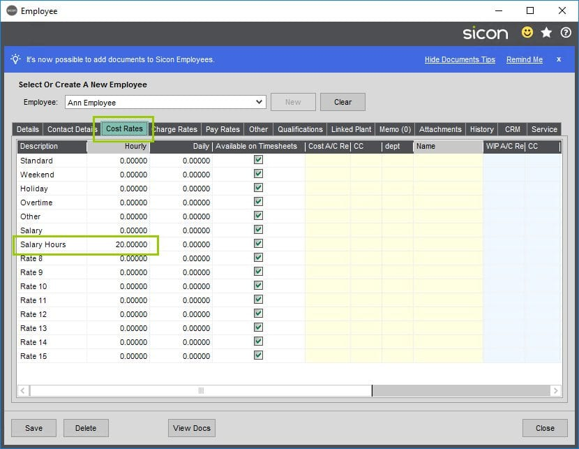 Sicon Projects Help and User Guide - SS12.2-3