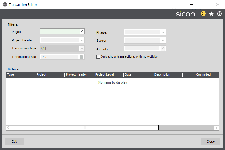 Sicon Projects Help and User Guide - SS15.4-1