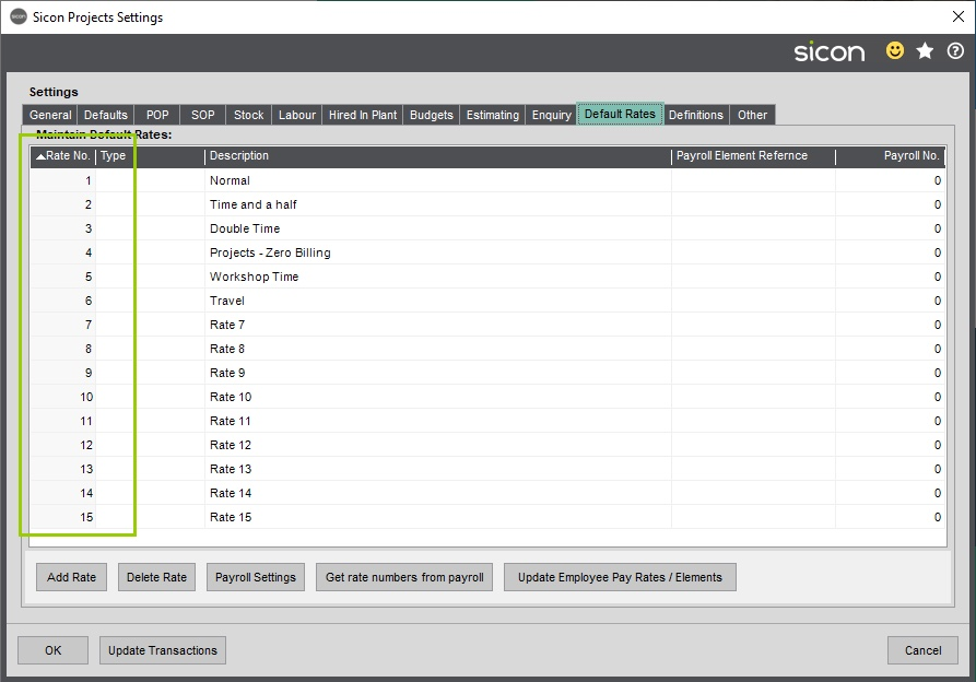 Sicon Projects Help and User Guide - SS18.15-2