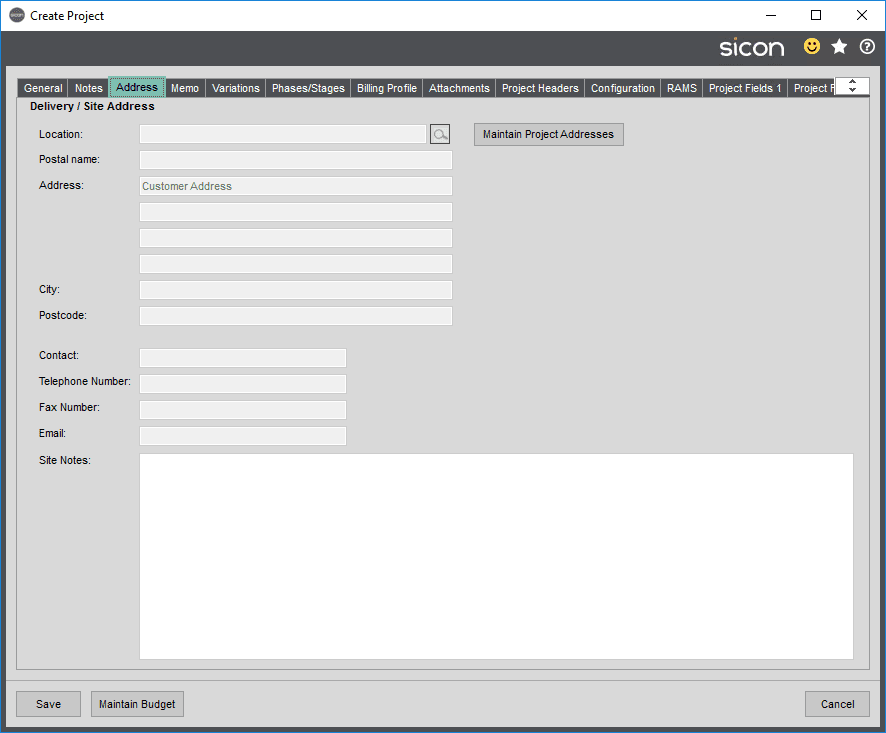 Sicon Projects Help and User Guide - SS3.1.3-1