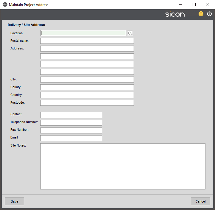 Sicon Projects Help and User Guide - SS3.1.3-3