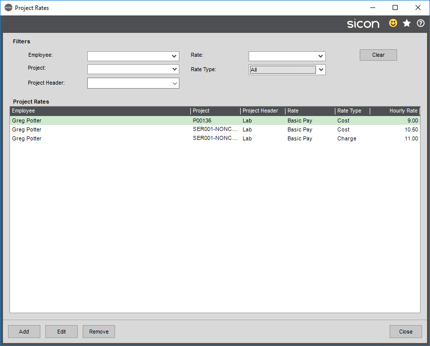 Sicon Projects Help and User Guide - SS3.10-1