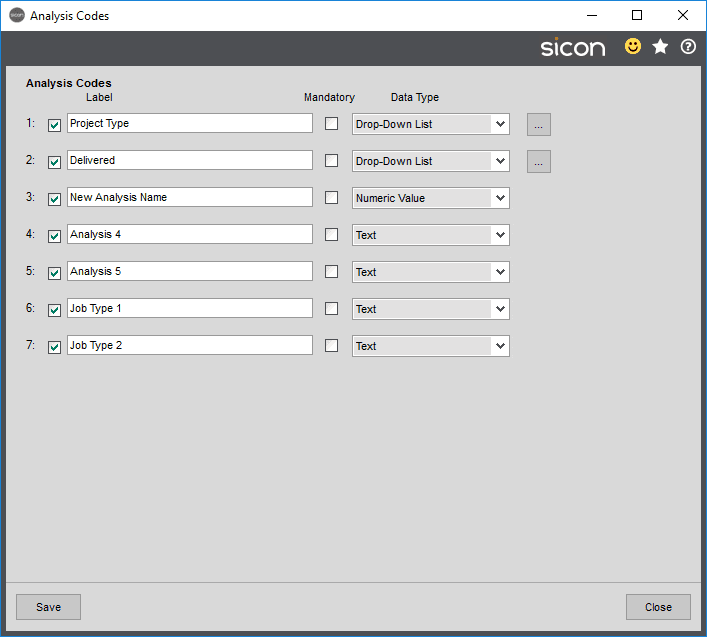 Sicon Projects Help and User Guide - SS3.20-1
