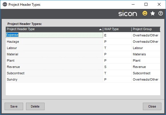 Sicon Projects Help and User Guide - SS3.4-1