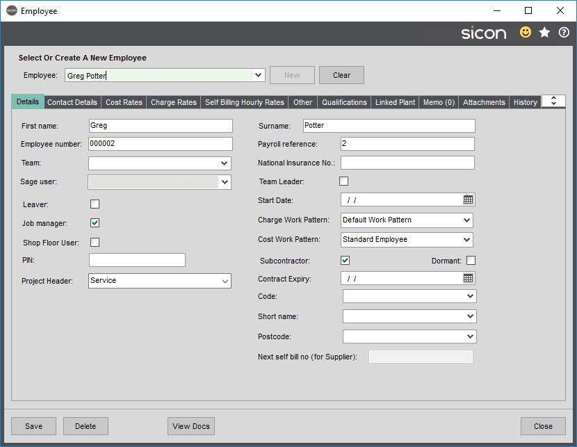 Sicon Projects Help and User Guide - SS3.5.1-1