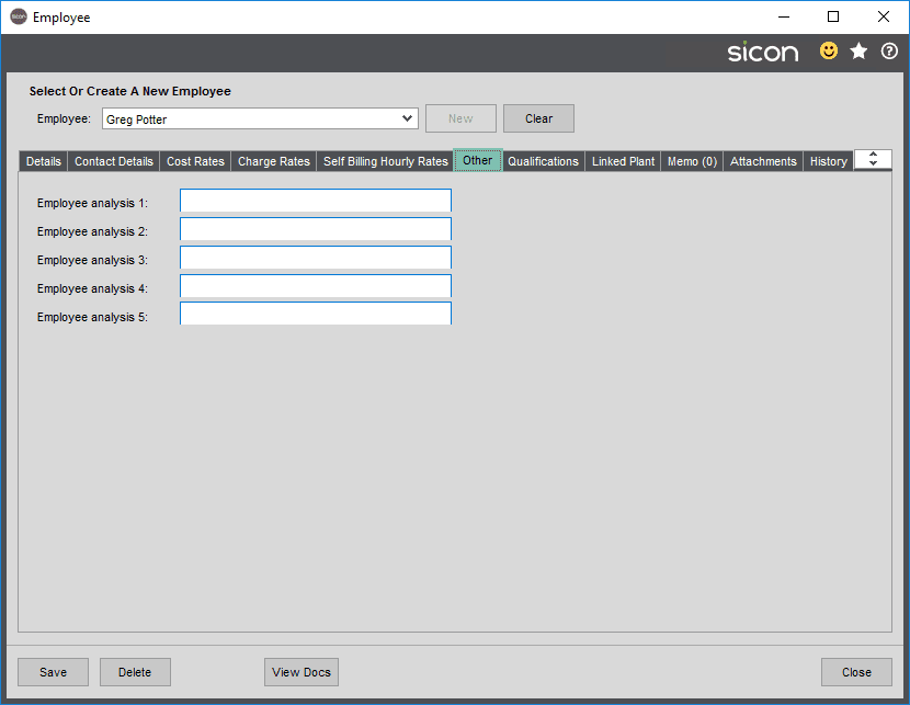 Sicon Projects Help and User Guide - SS3.5.4-1
