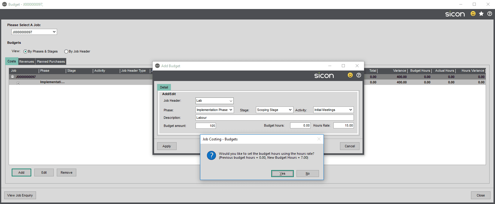 Sicon Projects Help and User Guide - SS3.6-3