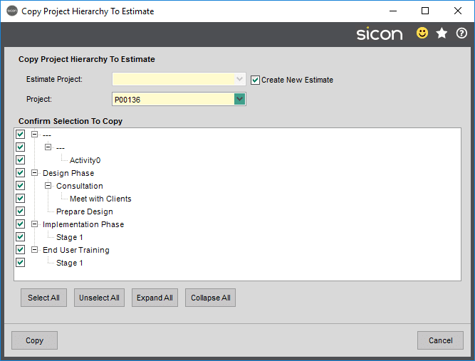 Sicon Projects Help and User Guide - SS6.6-1