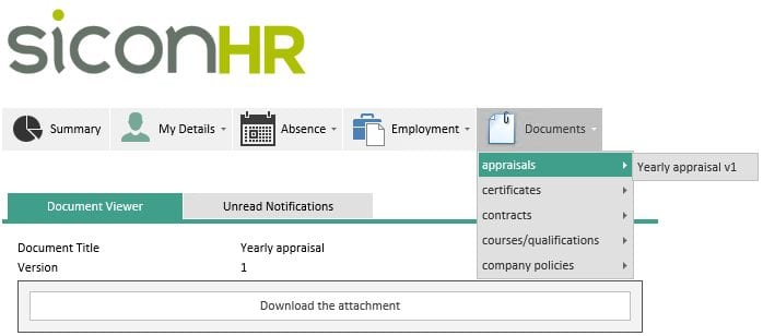 Sicon WAP HR Help and User Guide - HR HUG Section 4.3 Image 1