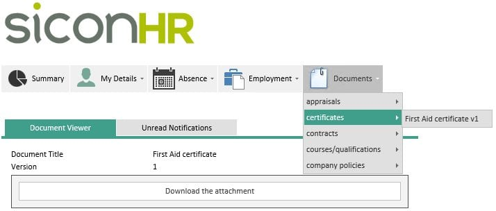 Sicon WAP HR Help and User Guide - HR HUG Section 4.4 Image 1
