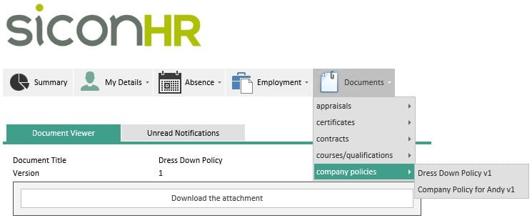 Sicon WAP HR Help and User Guide - HR HUG Section 4.5 Image 1